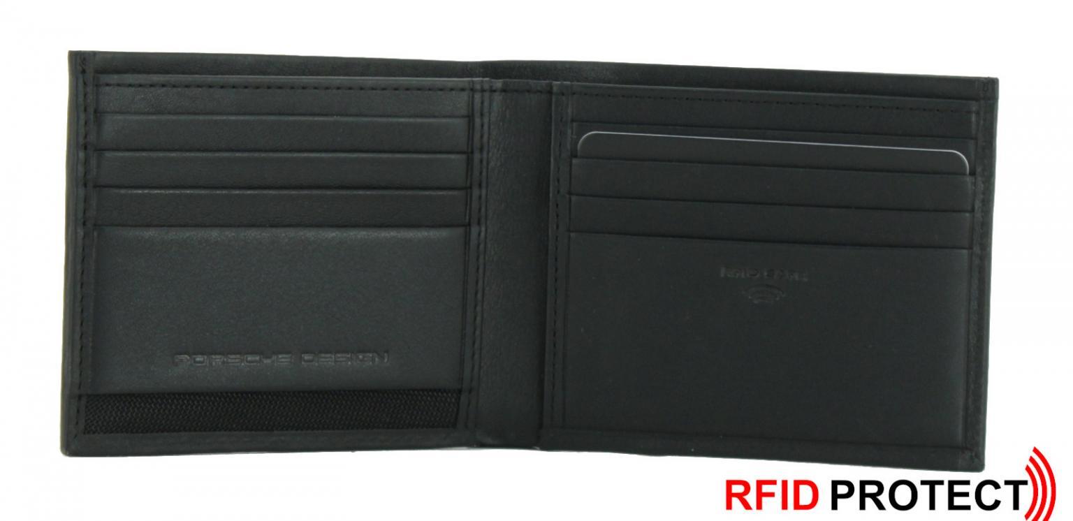 Porsche Design Scheintasche RFID-Schutz schwarz Wallet h11