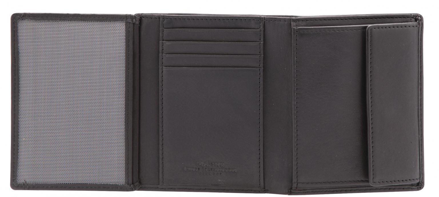 Portemonnaie für Herren Maitre Hainer schwarz Hochformat RFID