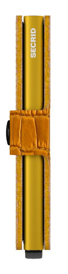 RFID Schutzetui ockergelb Reptil Secrid Miniwallet Cleo Ochre