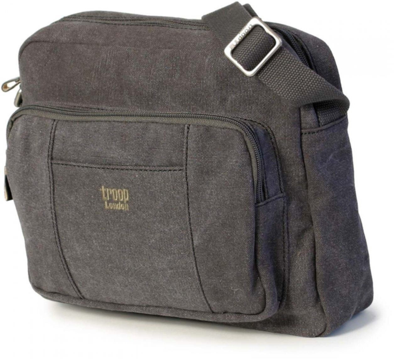 Reißverschlusstasche Troop Stoff Schwarz Bags More