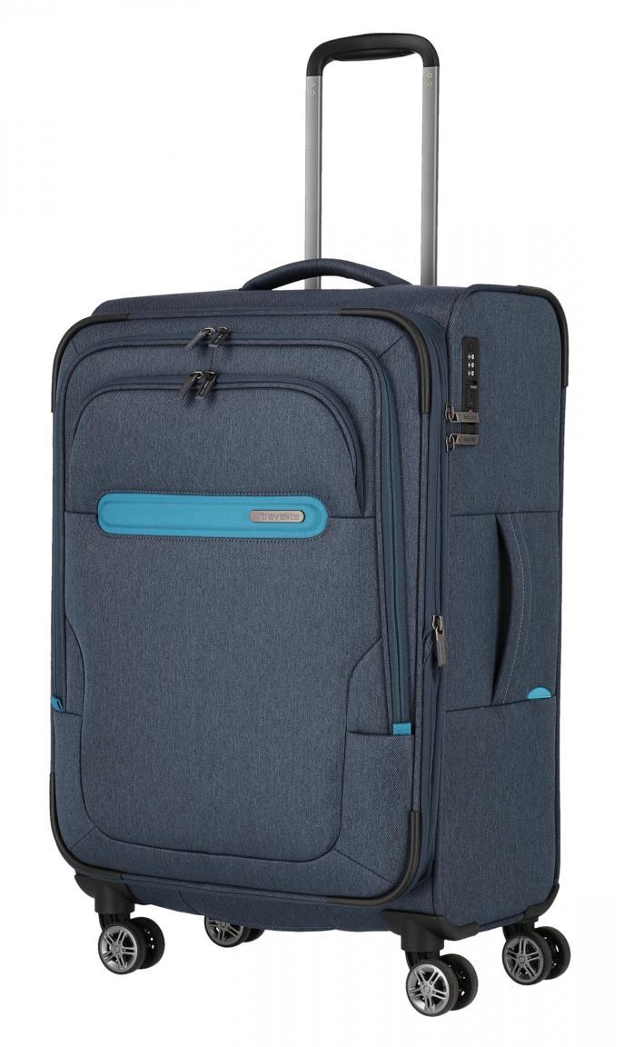 Reisekoffer Travelite Madeira 4-Rad M 67cm blau türkis