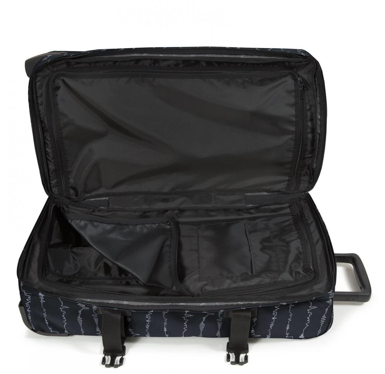 Reisetasche Eastpak Tranverz L Beat Black Skyline Wellen schwarz