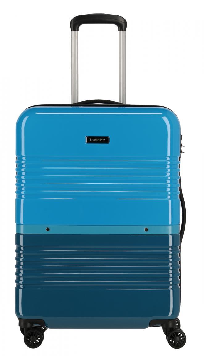 Rollenkoffer M Frisco 4-Rad Petrol Blau Travelite ABS 66cm