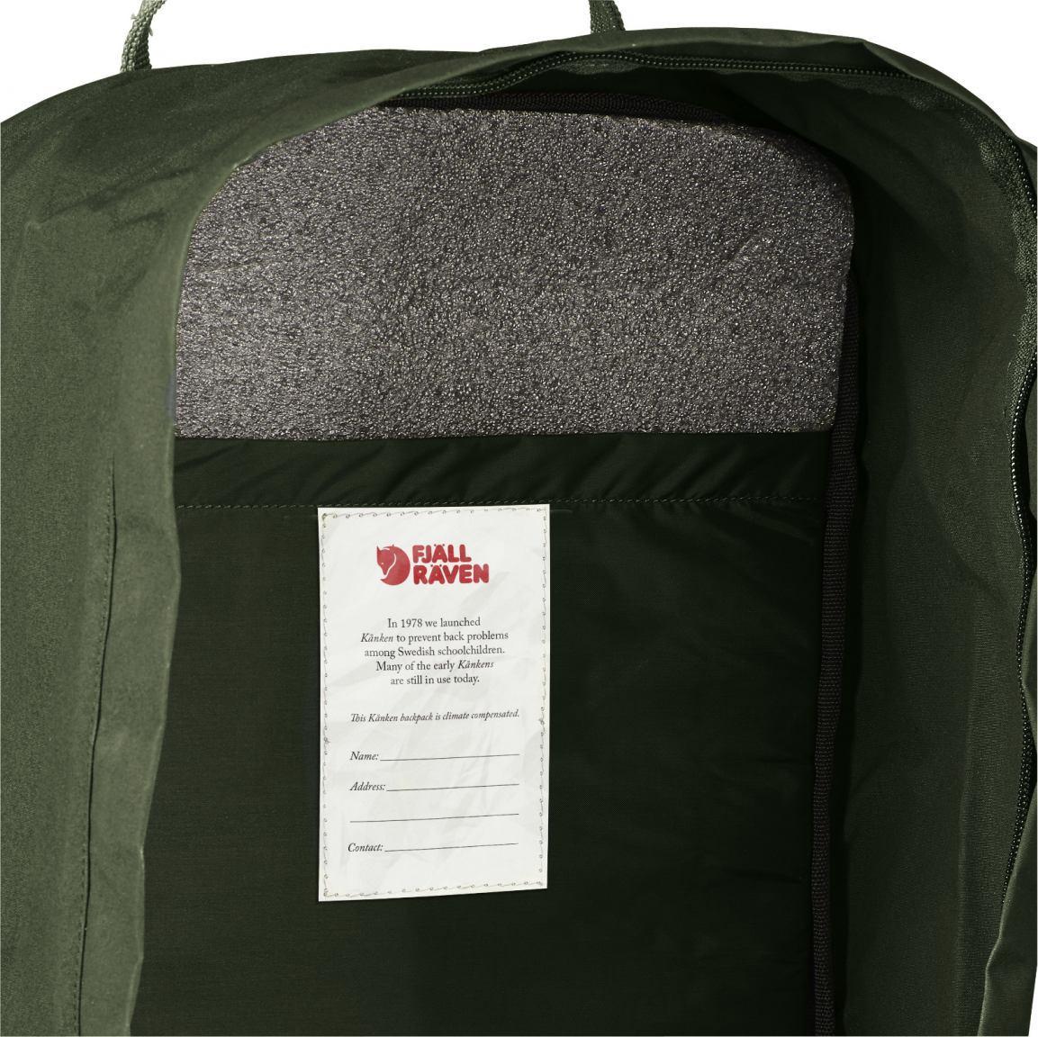 Rucksack Kanken 17 mit Laptopfach  Fjällraven dunkelgrün