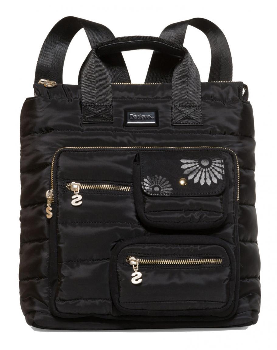 e3ff65b60b4f7 Rucksackhandtasche Desigual Magic Maldivas schwarz gesteppt - Bags ...