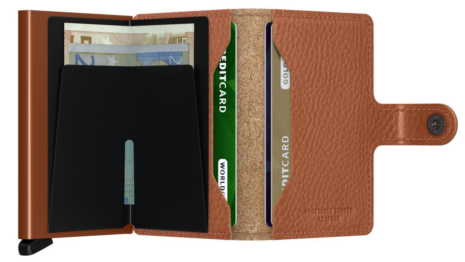 Scheinbörse mit Cardprotector Secrid braun Miniwallet