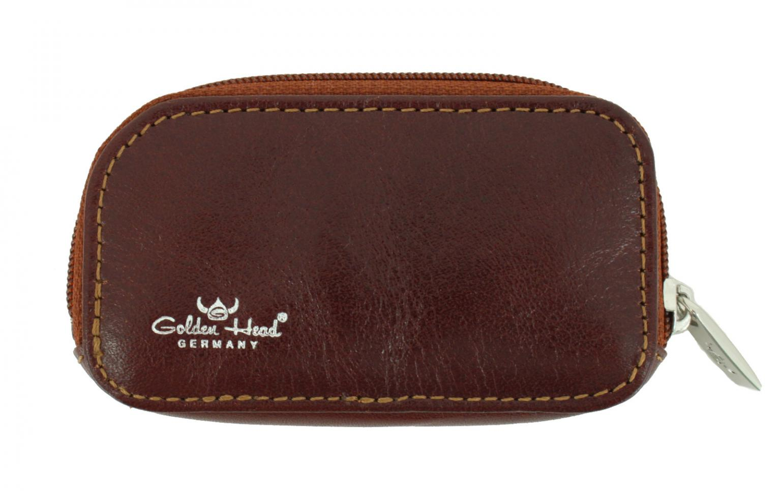Schlüsseltäschchen Golden Head Colorado Classic braun Zipper