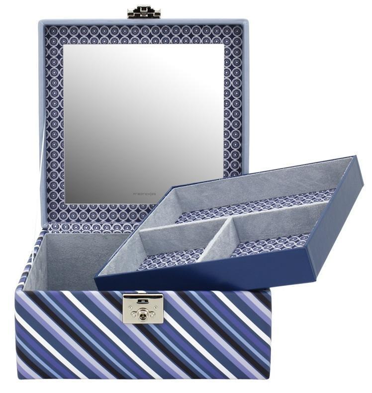 Schmuckkoffer Diagona Friedrich23 Streifen Schnörkel blau