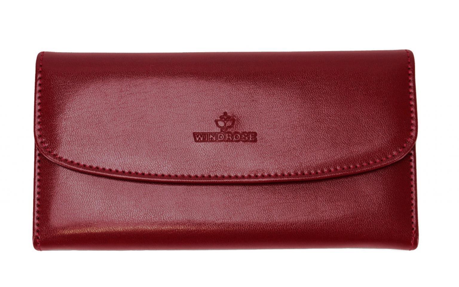 Schmucktasche Merino Windrose Rot