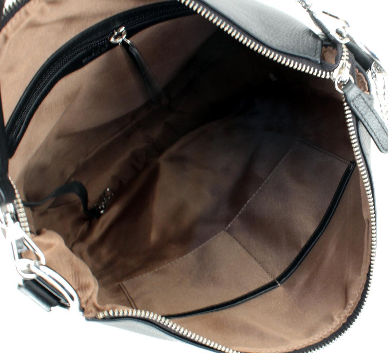 Schultertasche Clementina L.Credi Munich grau Hobo Bag Leder