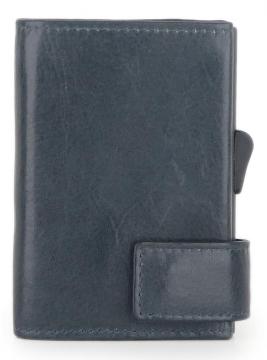SecWal Kartenetui Vintage dunkelblau Hartgeldfach RFID-Schutz