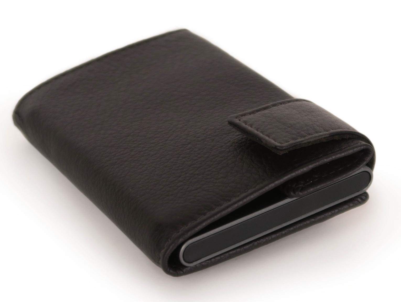 SecWal Kartenetui mit Hargeldfach Carbon RFID Schutz