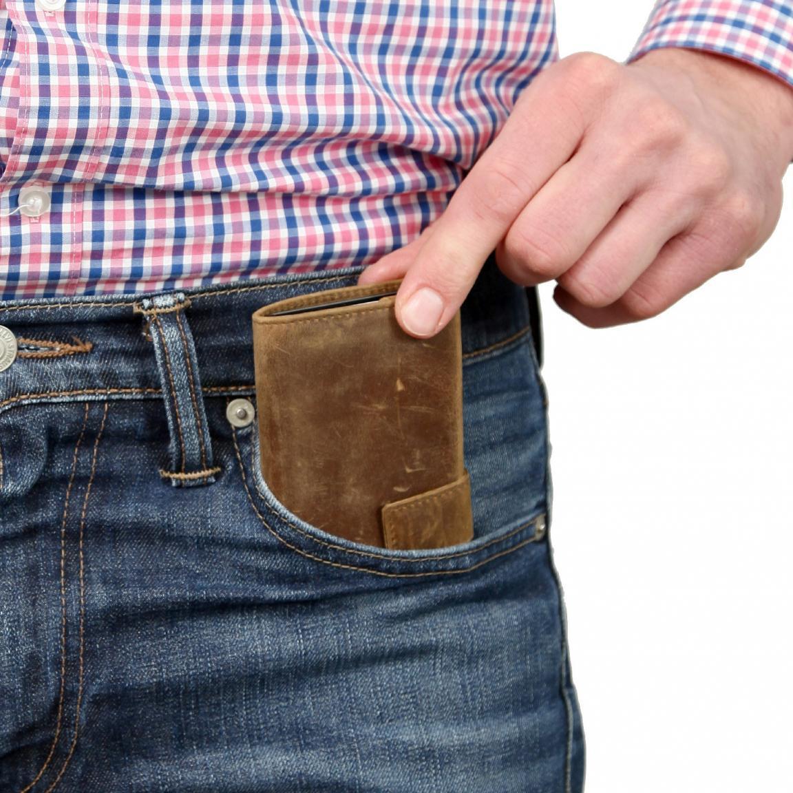 SecWal Kartenhülle Aluminium Börse RFID cherry rot
