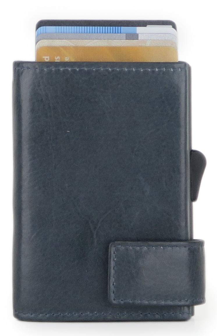 SecWal RFID-Schutz Kartenhülle dunkelblau Vintage Hartgeld