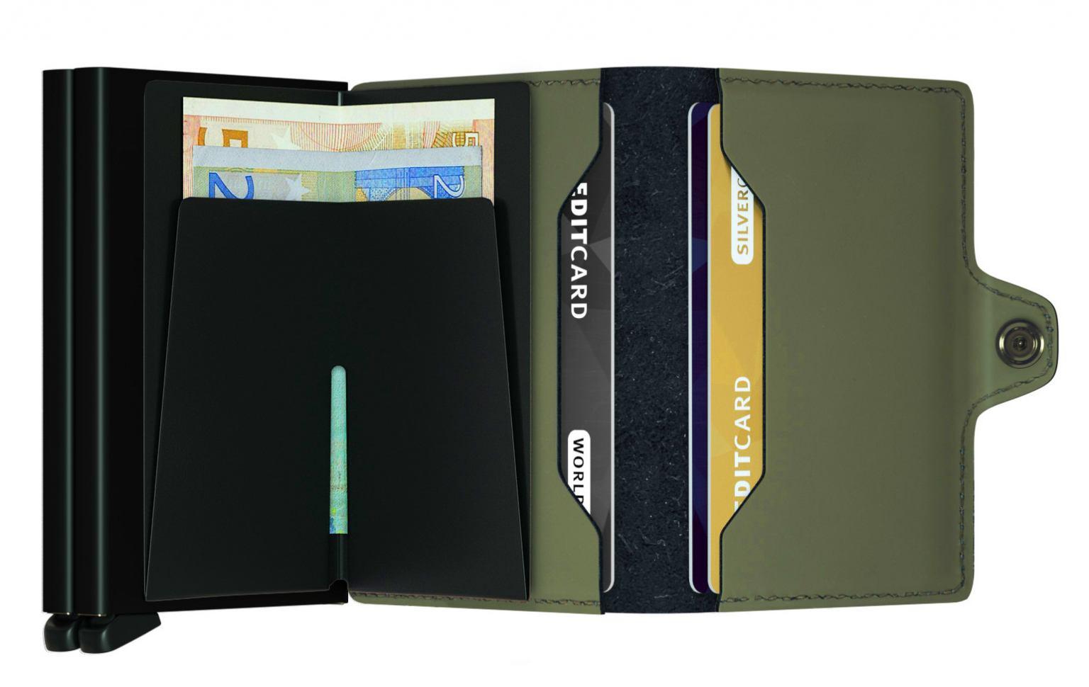 Secrid Chipkarten Etui Leseschutz Twinwallet Matte Green