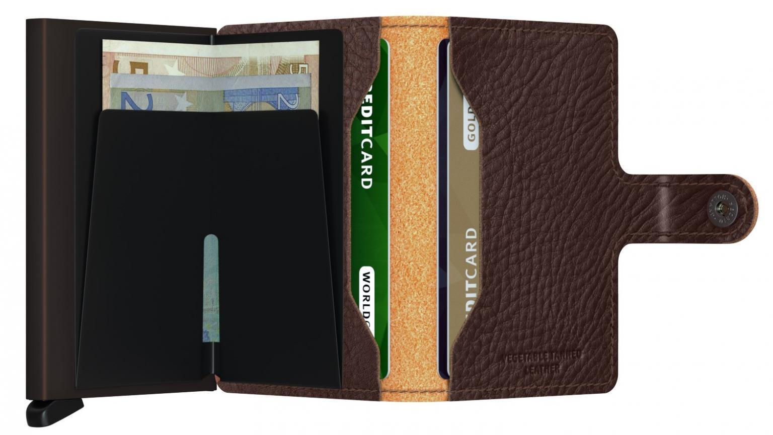 Secrid Chipkartenetui Veg Espresso braun RFID-Schutz