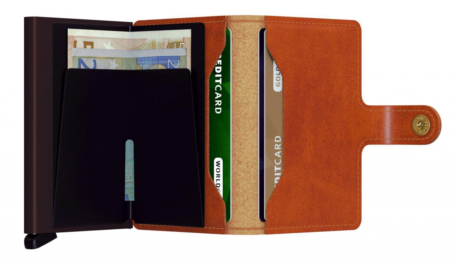 Secrid Geldbörse Mini Wallet Original Cognac