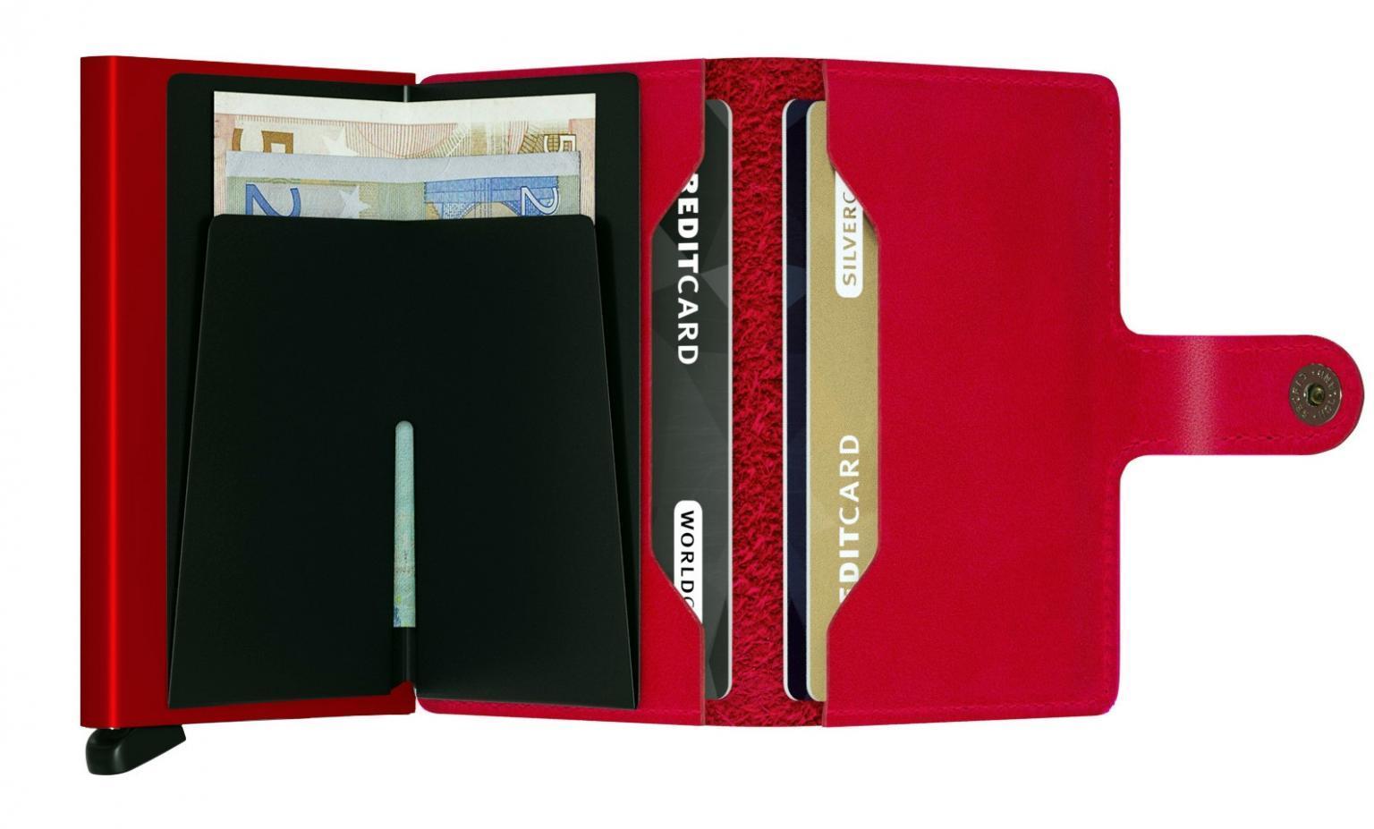 Secrid Geldtasche Miniwallet Original Red-Red