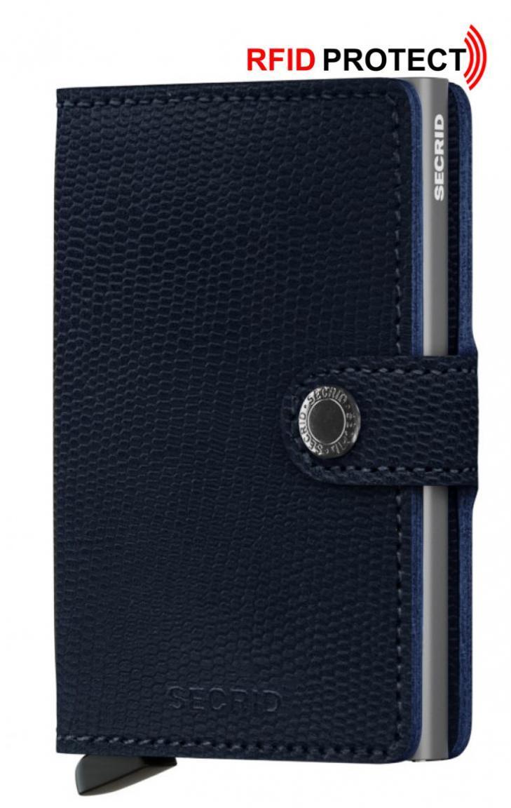 Secrid Kartenetui Miniwallet Rango Blue-Titanium Reptilprägung