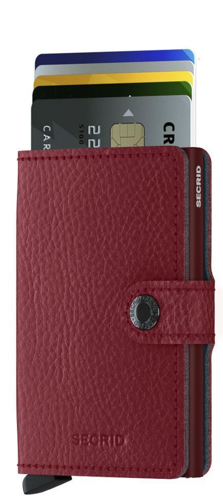 Secrid Kartenetui Miniwallet Vegetable Tanned Rosso rot blau