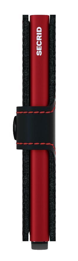 Secrid Kartenetui Miniwallet schwarz rot Gravur Matte Black Red