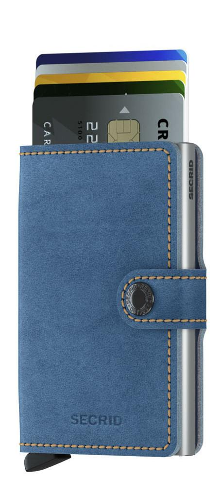 Secrid Mini Wallet Leder Aluminium Indigo 3