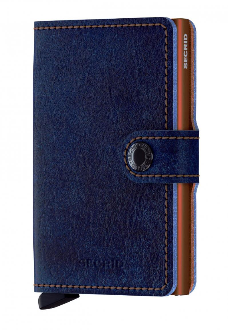 Secrid Mini Wallet Leder Aluminium Indigo