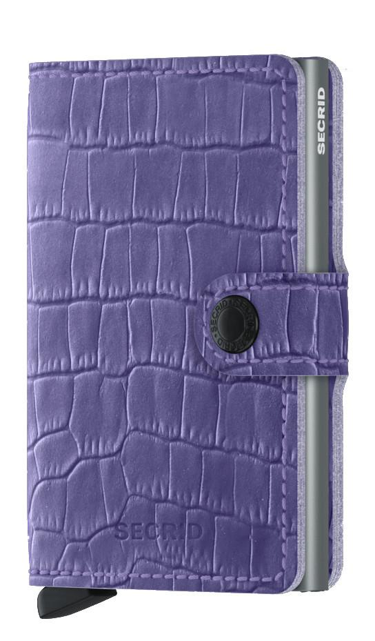 Secrid Miniwallet Cleo Lavender Kreditkartenetui lila Krokooptik