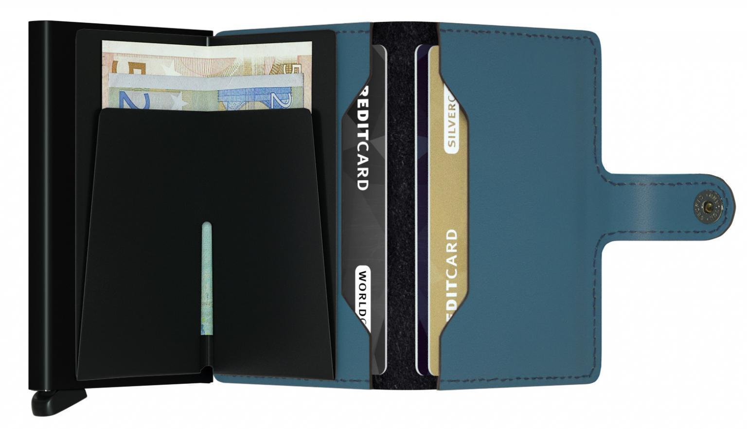 Secrid Miniwallet Kartenetui RFID Matte Petrol Leder