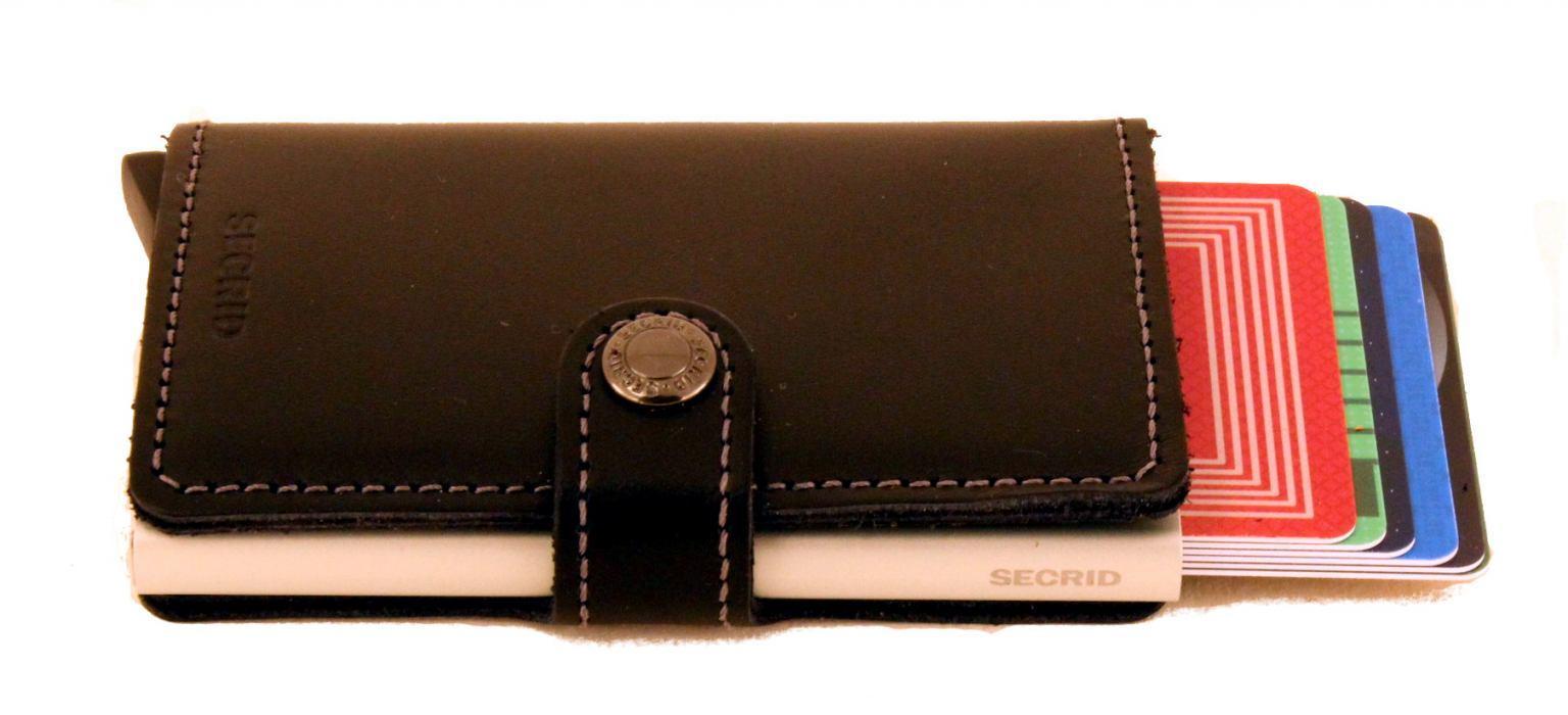 Secrid Miniwallet Kartenetui Vintage Grey-Black