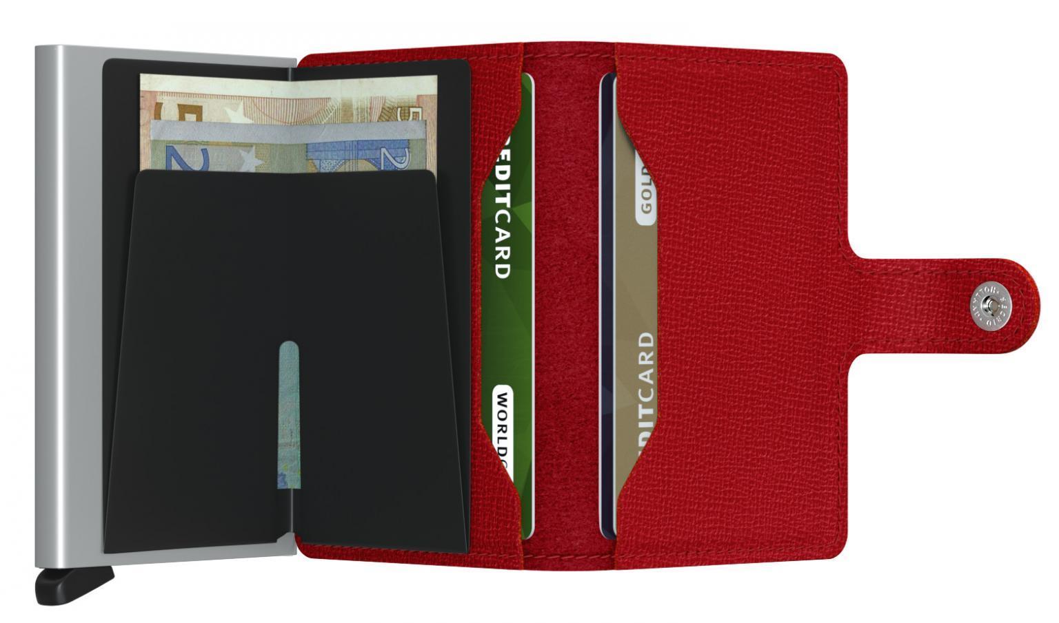 Secrid Miniwallet Kartentäschchen Damen Crisple Rot