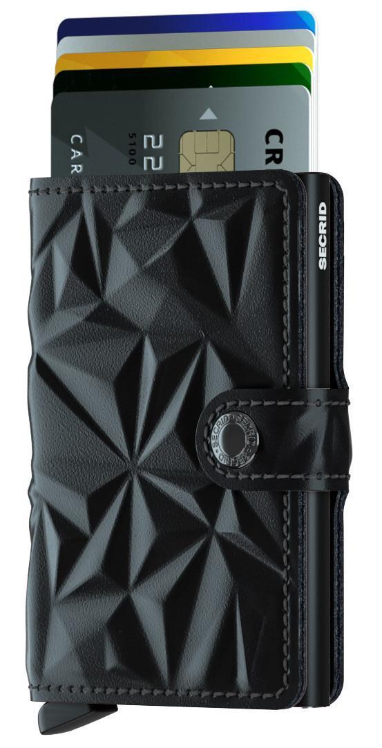 Secrid Miniwallet Kreditkartenetui Prism Black geprägt RFID