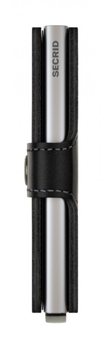 Secrid Miniwallet Lederetui mit Metallkartenhülle Original Blau