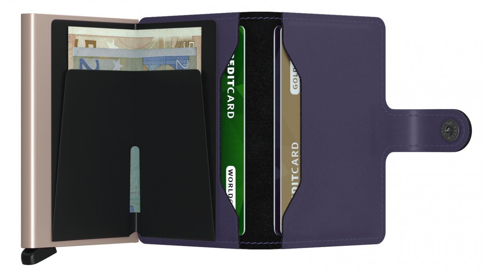 Secrid Miniwallet Matte Purple Rose RFID-Schutz violett Kartenetui
