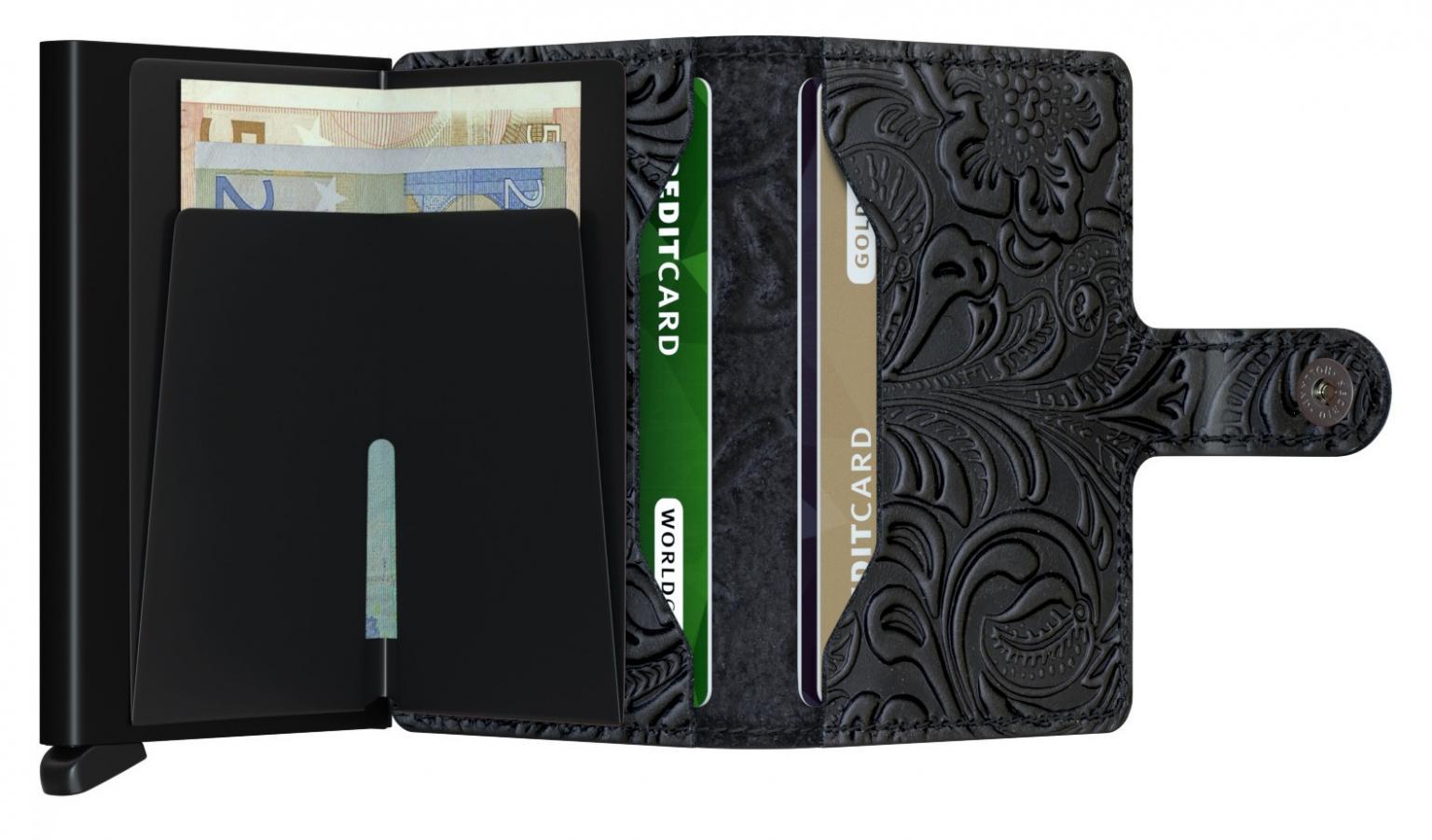 Secrid Miniwallet Ornament Black Prägung RFID-Protect
