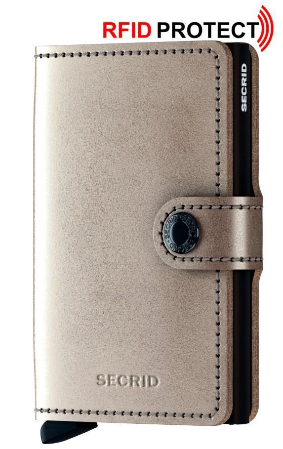 Secrid Miniwallet RFID Geldtasche Metallic Champage