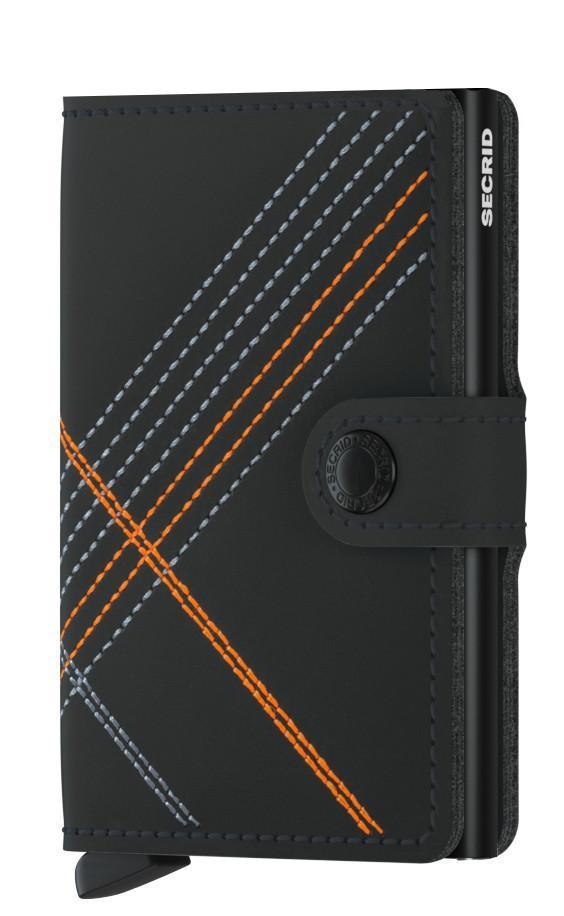 Secrid Miniwallet Stitch Linea Orange schwarz mit oranger Naht