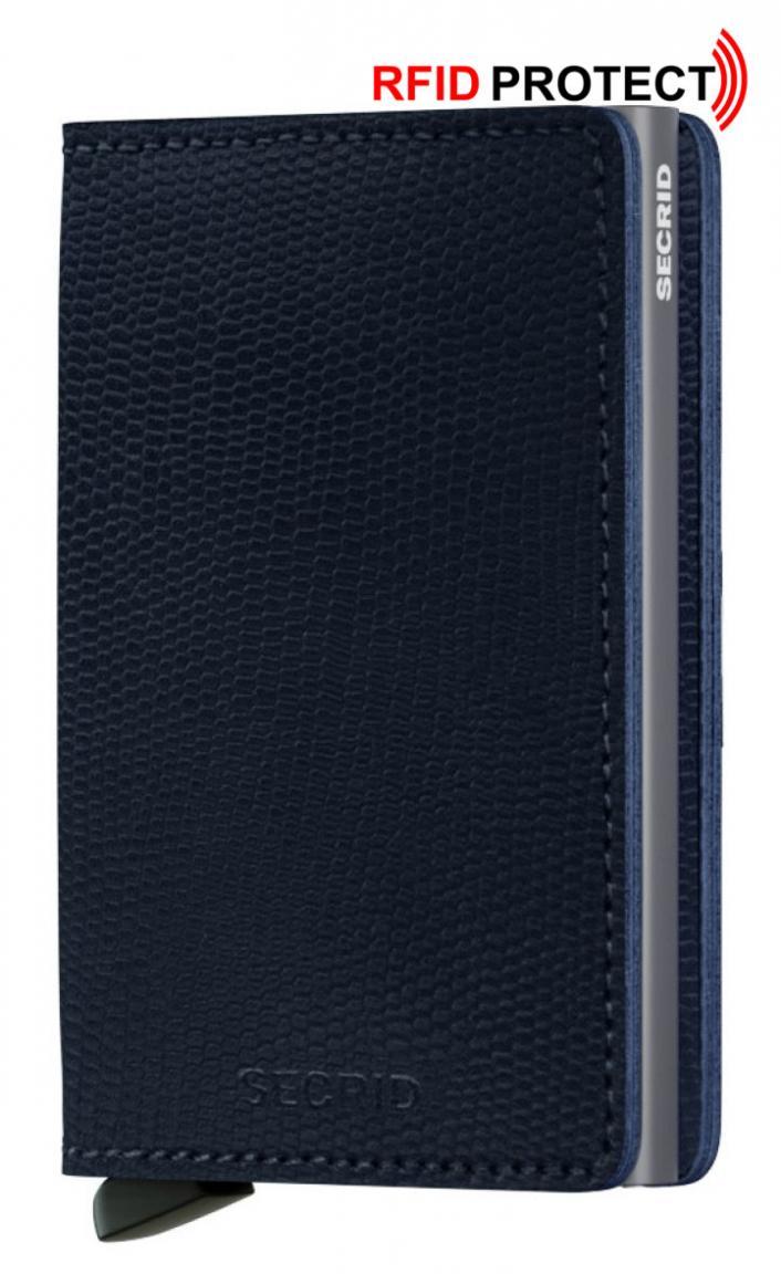Secrid Slimwallet Eidechsprägung Kartenetui Rango Blue-Titanium