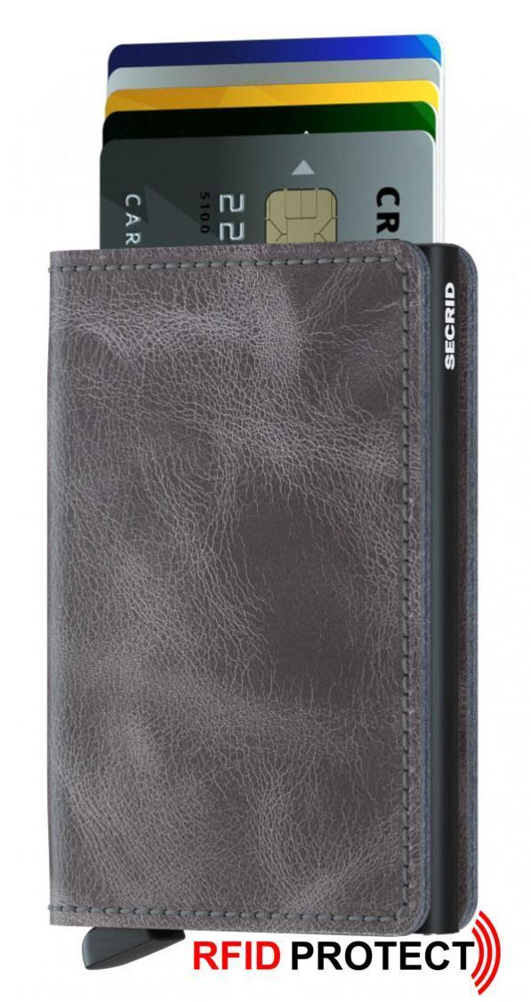Secrid Slimwallet Kartenetui RFID Ausleseschutz Vintage Grey-Bla