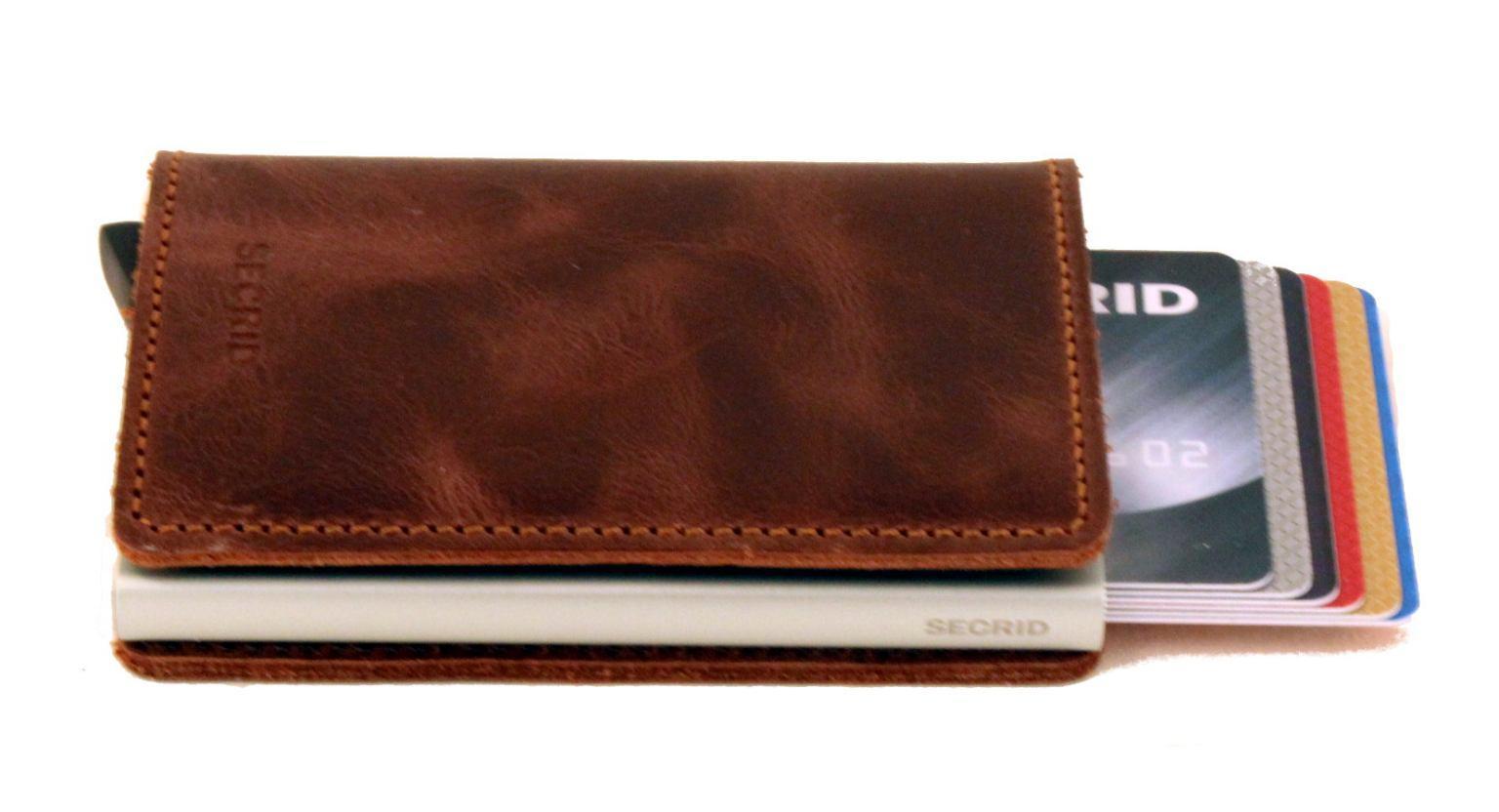Secrid Slimwallet Kartenetui RFID Original Cognac