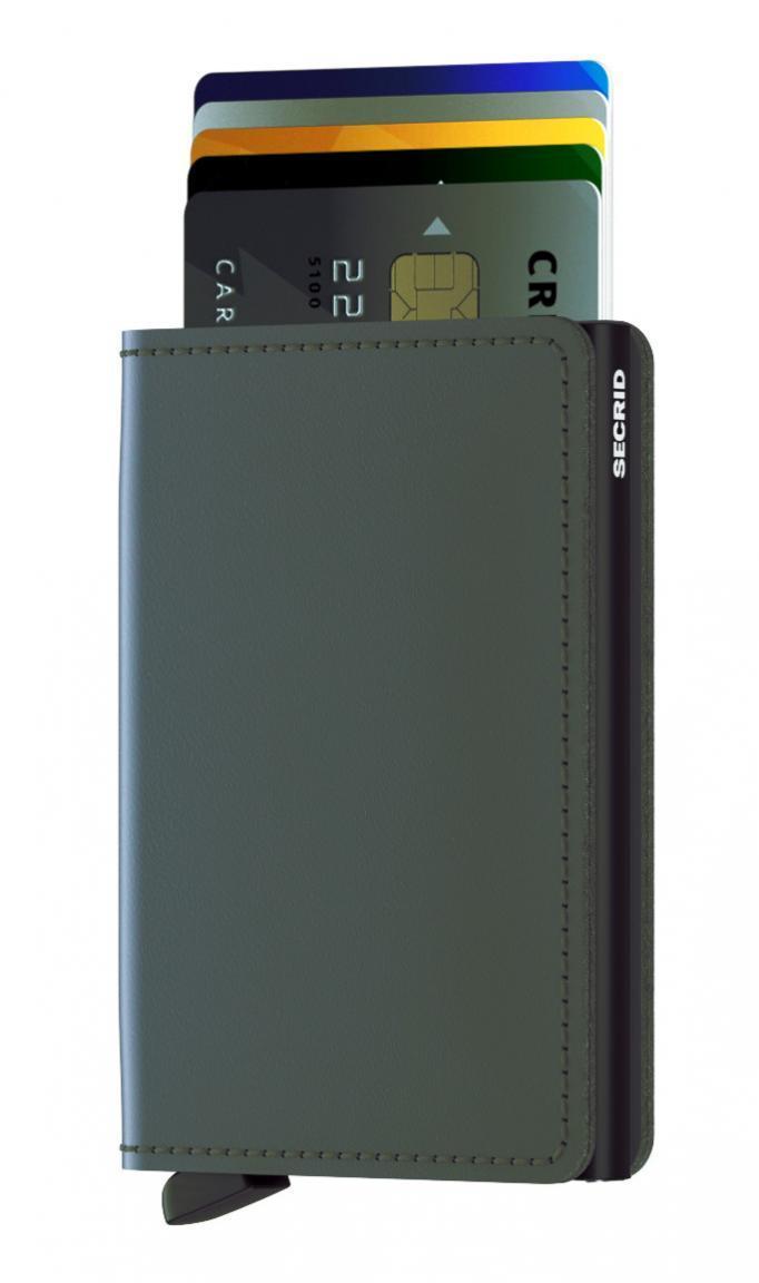 Secrid Slimwallet Matte Grey-Black (Grau)