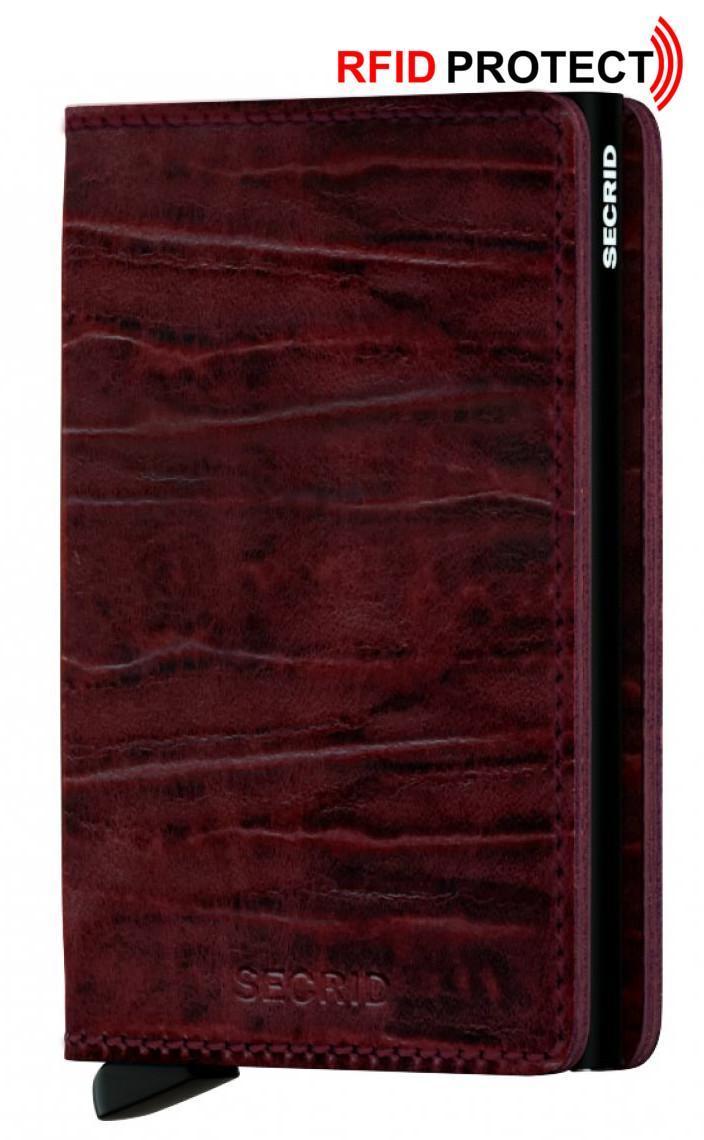 Secrid Slimwallet Metall/Leder Kartenetui Dutch Martin Bordeaux