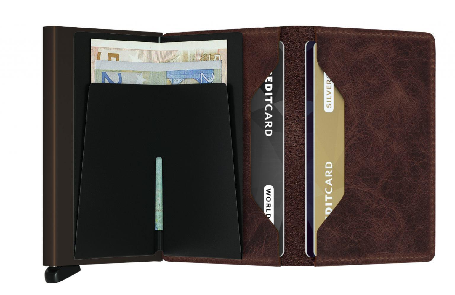 Secrid Slimwallet RFID Protect Kartenetui Vintage Chocolate