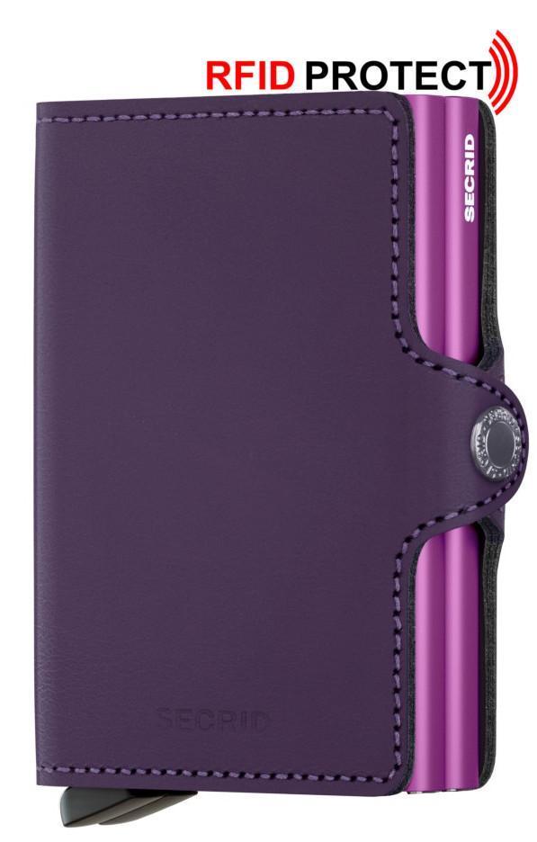 Secrid Twinwallet Kartenetui Leder Matte Purple violett RFID