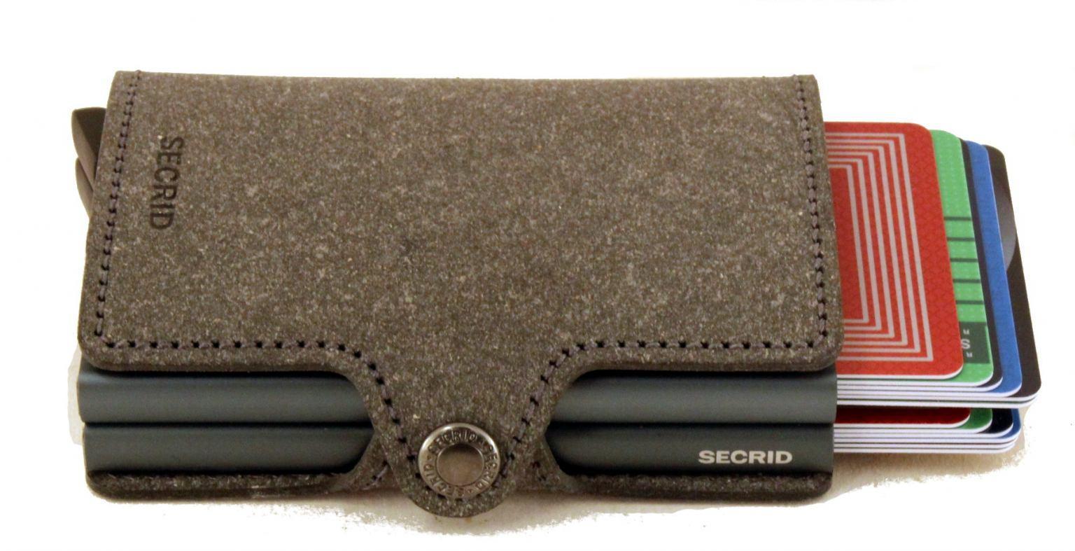 Secrid Twinwallet Leder mit zwei Metallhüllen Original Fuchsia