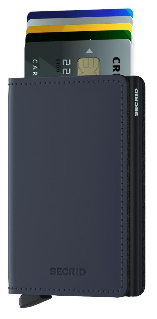 Slimwallet Matte Night Blue dunkelblau Secrid RFID Kartenetui