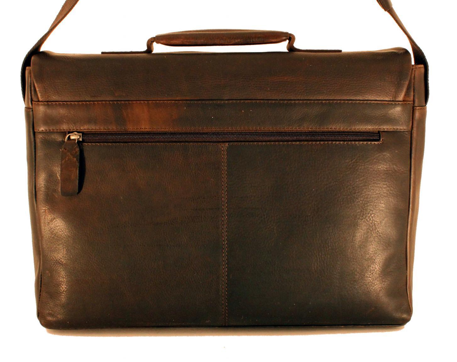 Strellson Goldhawk Aktentasche Überschlag Leder schwarz