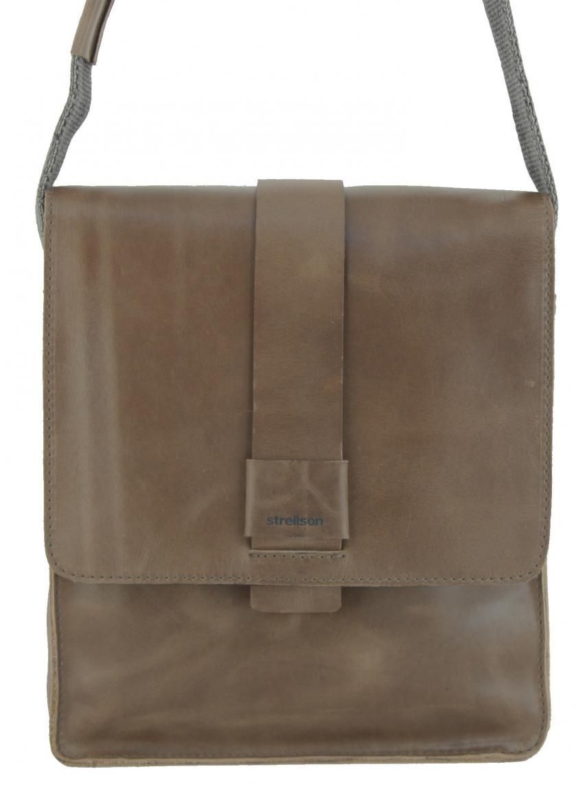 Strellson Männertasche Epping Crossbody Bag XSVF Leder braun
