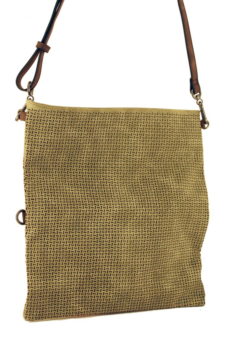 Suri Frey Glory Clutch Rindenmuster Silber Taupe