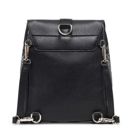 Taschen-Rucksack Desigual Galaxy Rivoli Nietenschriftzug schwarz